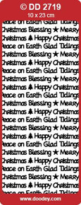 DOODEY DD2719 SILVER Christmas Text Stickers Peel Outline
