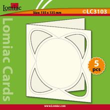 """Lomiac Die-Cut Dynamic Circle CREAM 5.25x5.25"""" 5pc Cards Card-Making"""