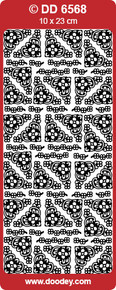 DOODEY DD6568 SIVER SMALL GOTHIC Corners Peel Stickers One 9x4 Sheet