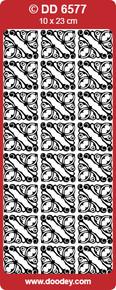 DOODEY DD6577 GOLD REGENCY Corners Peel Stickers One 9x4 Sheet