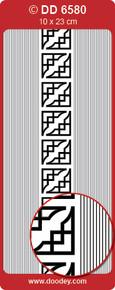 DOODEY DD6580 WHITE Staunton Frames Borders and Corners Peel Stickers One 9x4 Sheet