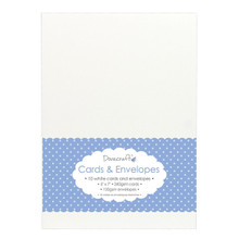 Trimcraft DCCE026 Dovecraft Cards with Envelopes (10 Pack), 5' x 7', White