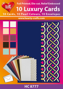 10 Luxury Cards - HC8777 Pearlized, Foiled, Die-Cut and Embossed