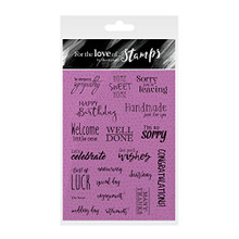 Hunkydory Crafts For the Love of Stamps -- THE OCCASIONS INSERT COLLECTION SENTIMENTS FTLS260