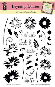 Hot Off The Press Layering Daisies Silicone Stamp Set