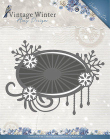 Amy Design - Vintage Winter Die-Snowflake Swirl Label