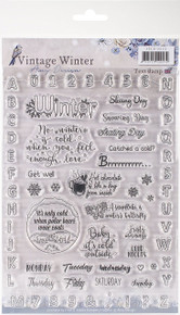 Amy Design - Vintage Winter Clear Stamps-English Words & Phrases