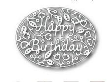 Tutti Designs Happy Birthday Oval Cutting Die TUTT284