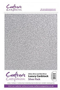 Crafter's Companion Luxury Cardstock - Silver