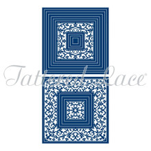 Tattered Lace Georgette Lace Square Die Set 436360 Includes 16-Dies