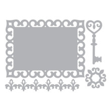 Sizzix Thinlits Border Label Medallion & Key 658953
