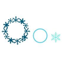Sizzix Framelits Die Set 3PK - Frame, Snowflake by Rachael Bright