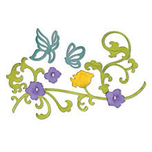 Sizzix Thinlits Butterflies & Flower Vine 658944