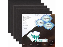 Paper Accents Back In Black Paper Variety Pack Cardstock