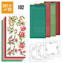 Dot and Do Nr. 102 Card Kit Garden Classics HobbyDot Stickers, 3D Image & Layered Cards