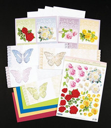 Ecstasy Crafts Kit #2 Roses 3D Precut Butterfly Cardmaking Kit