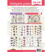 Hobbydots Poster 218-219 Scissor-Cut 3-D Sheets 8 Sheets with 3 Images Each & Idea Poster