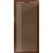 Find It Trading Hobbydots sticker style 4- Mirror - Brown