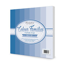 Hunkydory Crafts Colour Families Paper Pad - Blue - 8x8 Paper COLOURPAD104