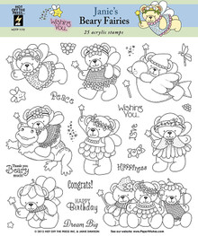 25 HOTP Janie's Beary Friends 1172 Rubber Stamps Janie Dawson Unmounted