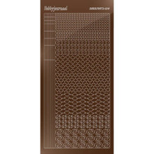 Find It Trading Hobbydots sticker style 14 - Mirror - Brown