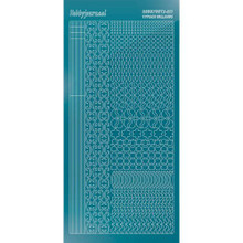 Find It Trading Hobbydots sticker style 11 - Mirror - Turquoise