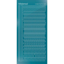 Find It Trading Hobbydots sticker style 20 - Mirror - Turquoise