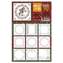 Hobbydots Dot and Do Cards Only Set 24-9 Printed Patterns for Use with Dot & Do Card Making C0d00-024