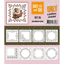 Hobbydots Dot and Do Cards Only Set 26-9 Printed Patterns for Use with Dot & Do Card Making C000-026