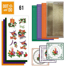 Dot and Do Colorful Christmas DODO061 Hobbydots Card Set