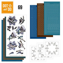 Dot and Do Jeanine's Art- Winter Birds DODO069 Hobbydots Card Set