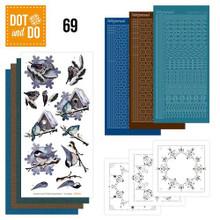 Dot and Do Jeanine's Art- Winter Birds DODO069 Hobbydots Card Set