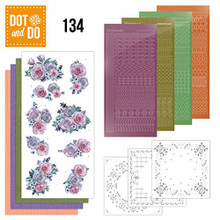 Dot and Do Purple Flowers DODO134 Hobbydots Card Set