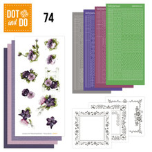 Dot and Do Purple Flowers DODO074 Hobbydots Card Set