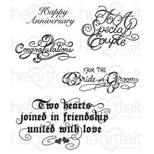 Heartfelt Creations Classic Wedding Wishes HCPC-3790 Cling Stamps