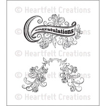 Heartfelt Creations Juliet Spray Cling Unmounted Rubber Stamp Set (HCPC3567)