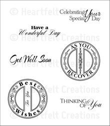 Heartfelt Creations Cascading Fuchsia - Heartfelt Sentiments Cling Stamp Set