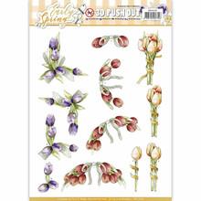 Precious Marieke Early Spring Punchout Sheet-Early Tulips