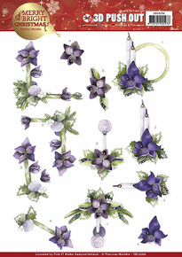 Precious Marieke Merry & Bright Punchout Sheet-Amaryllis In Purple