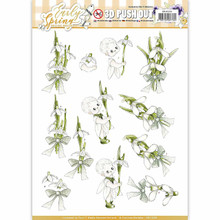Precious Marieke Early Spring Punchout Sheet-Early Snowdrops