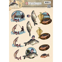 Find It Trading SB10039 Amy Design Punchout Sheet, It's a Man's World Fishing, Multicolor