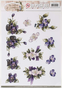 Find It TradingPrecious Marieke Punchout Sheet-The Nature Of Christmas, Flowers