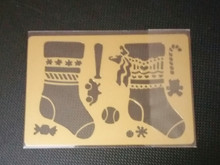 "Christmas Stockings Metal Stencil XDAH-262  3.5""x 2 1/2"""