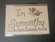 """In Sympathy Stencil JLH-73   3 x 2"""""""