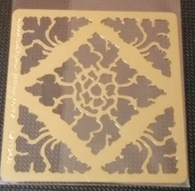 Damask Flower Metal Stencil DAH-268