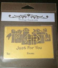 """Just For You Gifts Metal Stencil XDAH-164  3.5 x  3"""""""