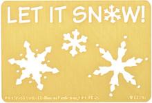"Let it Snow Metal Stencil JLH-26 3x2"""