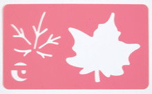 "HOTP Maple Leaf Plastic Stencil  Approx 2.5"" Leaf"