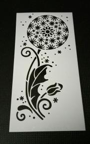 """HOTP Dandelion Plastic Stencil  Approx 3x5.5"""""""