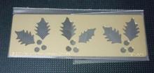 "Holly Border Metal Stencil PRH-394  1.5""x4"""